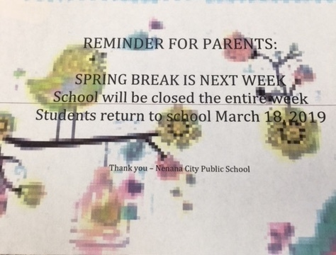Spring Break Flyer 2019