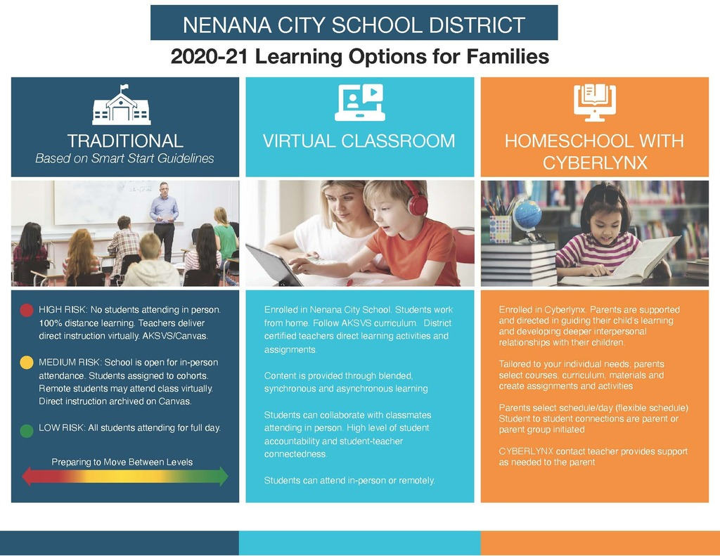NCSD Learning Options Infographic
